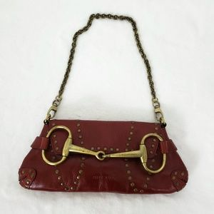 Wilsons Pelle Studio Clutch Red Leather Purse Bag
